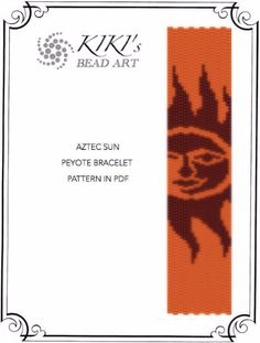 Peyote pattern for bracelet Aztec Sun peyote von KikisBeadArts