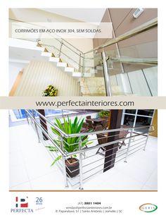 Corrimão Aço Inox - Perfecta Interiores