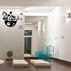 wallsticker flower pot Wallpaper interior Design