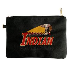 Indian Vintage Motorcycles Canvas Pouch Bag *** Learn more by visiting the image link.