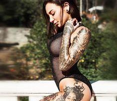 Pretty tattooed model Paula Gonzalez, perfect photo by Victor Torrecilla | Post 21257 | World Tattoo Gallery - Best place to Tattoo Arts