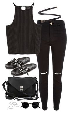 """""""Untitled#4702"""" by fashionnfacts ❤ liked on Polyvore featuring River Island, Zara, Yves Saint Laurent, Pedro García, Rebecca Minkoff and Apt. 9"""