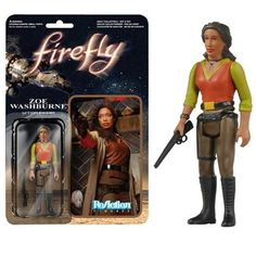 This is a Zoe Washburne Firefly action figure that is produced by Funko. The Zoe Washburne action figure is 3 3/4 inches in scale and is part of Funko's ReAction line of action figures. They're great