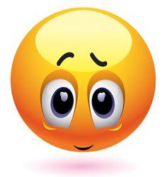 Shyly blushing emoticon