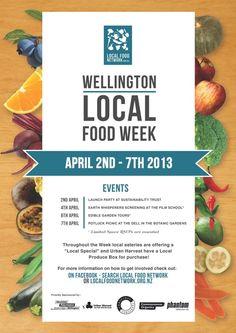 Wellington Local Food Week by Elise Catalinac, via Behance