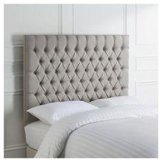 Henley Double Headboard, Grey Linen
