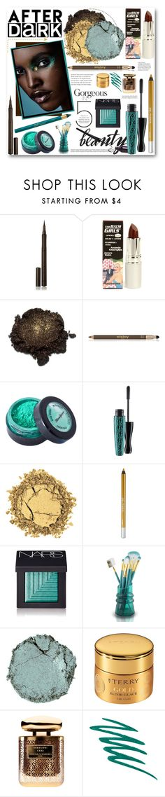"""AFTER DARK"" by purplerose27 ❤ liked on Polyvore featuring beauty, Burberry, TheBalm, Sisley Paris, Stargazer, MAC Cosmetics, Urban Decay, NARS Cosmetics, Jacki Design and Chantecaille"