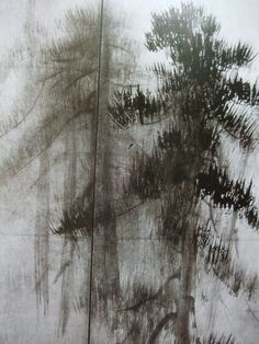 長谷川等伯 Japanese Ink Painting, Chinese Landscape Painting, Chinese Painting, Chinese Art, Landscape Paintings, Oriental, Dark Tree, Plant Painting, Korean Art