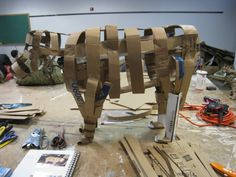 Creating a cardboard armature