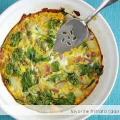An easy dairy free and gluten free frittata - a tasty and healthy breakfast recipe. This is a great recipe for a brunch!