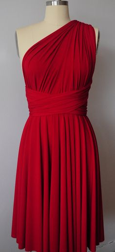 This would be super cool! Red Infinity Dress Convertible Formal Multiway Wrap by AtomAttire, $32.00