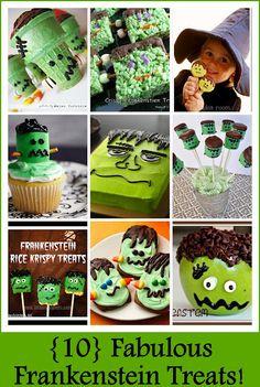 {10} Fabulous Frankenstein Treats #halloween #halloween treats