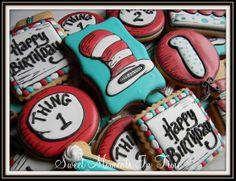 Dr. Seuss Cookies For more cookies visit www.facebook.com/sweetmomentsintime
