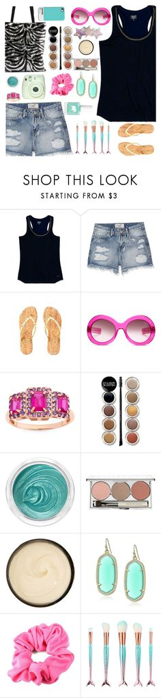 """""""Untitled #1048"""" by liska1986 ❤ liked on Polyvore featuring Superdry, Lilly Pulitzer, Oliver Goldsmith, Giorgio Armani, 3ina, Chantecaille, Christophe Robin, Kendra Scott and Ella+Mila"""