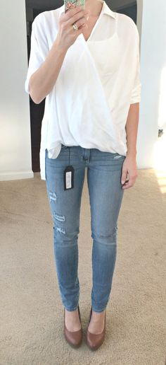 Stitch Fix Review: Just Black Riley Distressed Skinny Jean |www.pearlsandsportsbras.com|