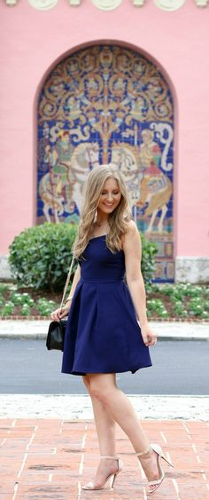Navy and Pink Fashion at the beautiful Boca Raton Resort!   by @ashleynicholas at ashleybrookenicholas.com
