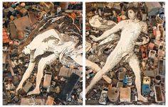 Vik Muniz, Creation of Adam, after Michelangelo (Pictures of Junk) © Vik Muniz - Courtesy galerie Xippas