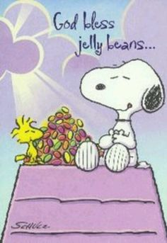 Snoopy and Woodstock at Easter