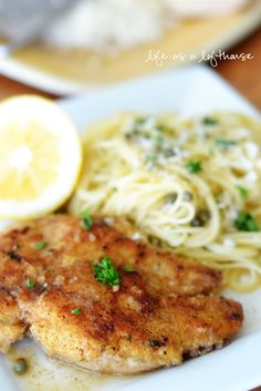 :)(: Chicken Piccata - Delicious! Start to finish the entire meal took 30 minutes to make Really fresh tasting, and light.