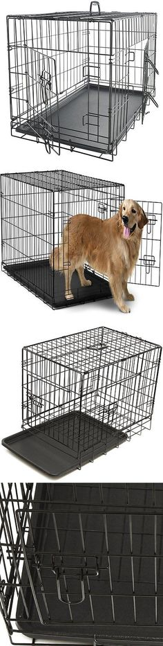 Cages and Crates 121851: Extra Large Dog Crate Kennel Xxl Xl Huge Folding Pet Wire Cage Giant Breed Size -> BUY IT NOW ONLY: $57.21 on eBay!