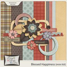 Blessed Happiness {mini kit} :: Full & Mini Kits :: Memory Scraps
