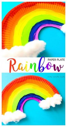 Arty Crafty Kids | Craft | Easy Paper Plate Rainbow Craft | A simple paper plate rainbow craft for kids. A super cute St Patrick's Day Craft or Spring Craft. #easycraftsforkids