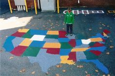 painted playground games  | usa playground games hopscotch 4 corners whiffleball etc playground ...