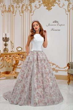 Venera wedding dress by Jasmine Empire wedding brand. Only Italian fabrics, natural pearls, SWAROVSKI stones Swarovski Stones, Formal Dresses, Wedding Dresses, Tulle, Jasmine, Skirts, Empire, Fabric, Fashion