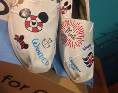 Hand Painted Disney Cruise Toms- NOTE: Personalized to any design, college, or character(s) you want
