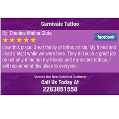 Love this place. Great family of tattoo artists. My friend and I had a blast while we...