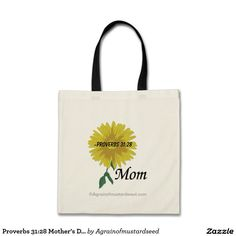 Proverbs 31:28 Mother's Day Budget Tote Bag