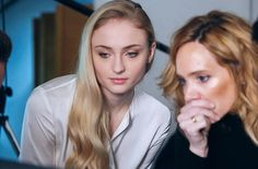 Sophie Turner at the backstage of the photoshoot for MGI Entertainmen.