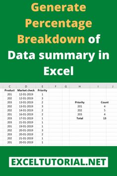Generate Percentage Breakdown Of Data Summary In Excel Computer Basics, Computer Help, Computer Programming, Computer Tips, Excel Tips, Excel Hacks, Medical Technology, Technology Articles, Energy Technology