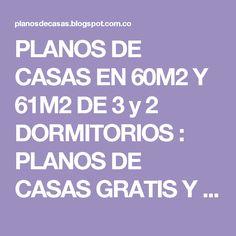 PLANOS DE CASAS EN 60M2 Y 61M2 DE 3 y 2 DORMITORIOS : PLANOS DE CASAS GRATIS Y DEPARTAMENTOS EN VENTA
