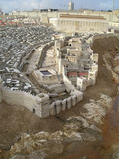 Reconstructed Second Temple, Jerusalem – Anand Mohan – Join the world of pin Israel History, Jewish History, Ancient History, Turm Von Babylon, Places Around The World, Around The Worlds, Terra Santa, Arte Judaica, Israel Palestine
