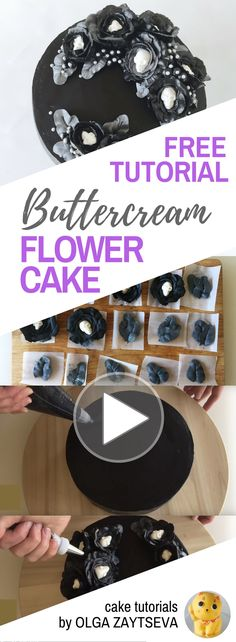 HOT CAKE TRENDS How to make Halloween Buttercream Flower cake - Cake decorating tutorial by Olga Zaytseva. Learn how to pipe buttercream roses, make chocolate skulls and create this gothic floral wreath cake for Halloween.