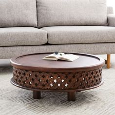 Merveilleux Carved Wood Coffee Table   West Elm