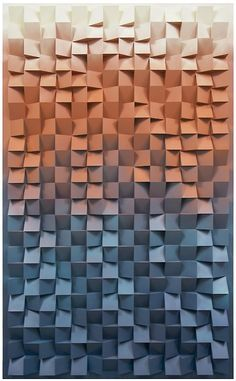 Jan Albers | Colorful textured wall design | #wallcandy