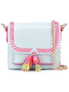 SOPHIA WEBSTER whipstitch trim cross body bag. #sophiawebster #bags #leather #