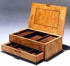 curly oak 1000 Custom Made Custom Wood Jewelry Box