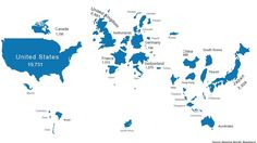 Here's the map of the world, if size were determined by market cap - MarketWatch