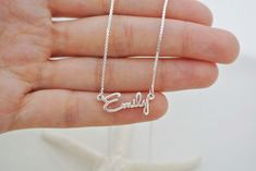 SALE Personalized Dainty Name Necklace in by SilverHandwriting, $36.00