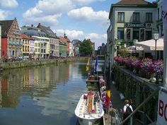 Riverside in Ghent, Belgium - photo by Gregd1957 via Wikimedia Commons