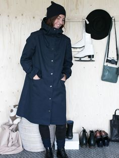 """Schnittmuster: The Assembly Line """"Hoodie Parka"""" - Elsbeth und Ich - New Ideas Coat Pattern Sewing, Jacket Pattern, Sewing Patterns Free, Hoodie Pattern, Coat Patterns, Clothes Patterns, Top Pattern, Elsbeth Und Ich, Love Sewing"""