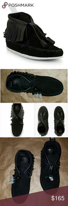 Rag & Bone Moccasins Rag & Bone Black Moccasins Suede size 5 rag & bone Shoes Moccasins