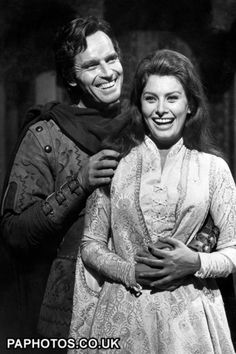 Charlton Heston and Sophia Loren