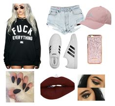 """dilligaf ✌️(does it look like I give a f*ck)"" by andrea-mcb on Polyvore featuring Kill Brand and adidas"