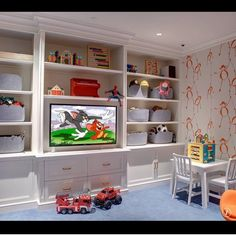 20 Fantastic Kids Playroom Design Ideas – Modern Home Loft Playroom, Small Playroom, Playroom Organization, Playroom Design, Playroom Decor, Kids Decor, Home Decor, Organized Playroom, Playroom Ideas