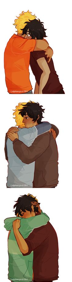 their relationship through a series of hugs ;~; | art by cherryandsisters