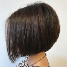 Short Dark Brown Bob Cut